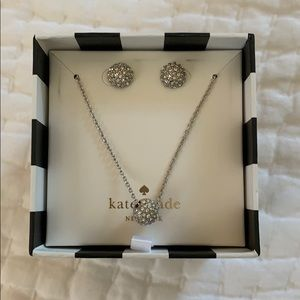 Kate Spade Set - Necklace and Stud Earrings